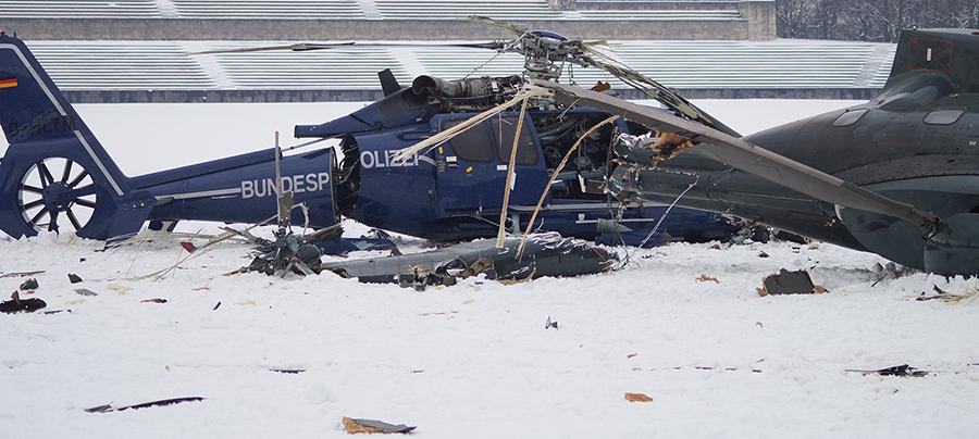 Wracks der beiden Hubschrauber | Foto: © Tomas Moll