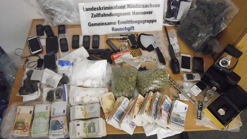 sichergestellte Beweismittel   Foto: © LKA Niedersachsen