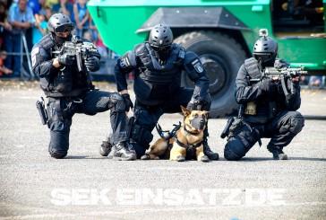 Flüchtling droht mit Suizid: Zugriff mit Polizeihund
