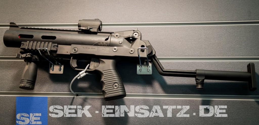 Der B&T GL-06 mit Nachtsichtkompatiblen Aimpoint Micro T-1 Rotpunktvisier | © Foto: Tomas Moll
