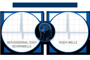 Wirkung auf das Nervensystem   Grafik: © TASER
