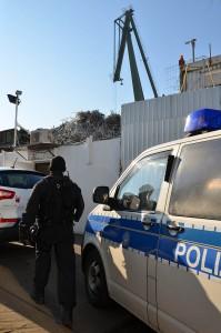 Die Durchsuchungen der Bundespolizei fanden auch bei Altmetallhändlern statt. | Foto: © Bundespolizei
