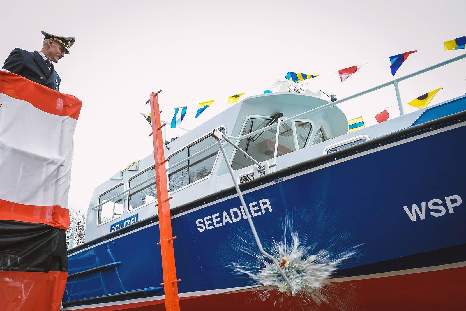 Die Schiffstaufe der Seeadler im Dezmeber 2015 | Foto: © Tomas Moll
