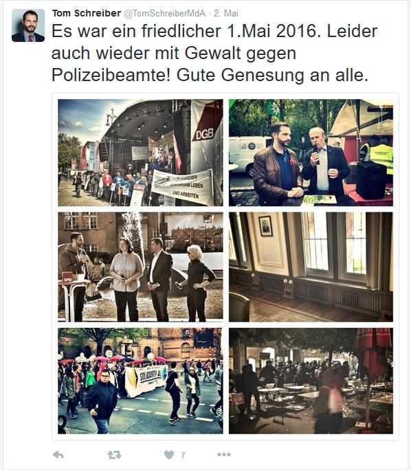 Screenshot Twitterkanal Tom Schreiber