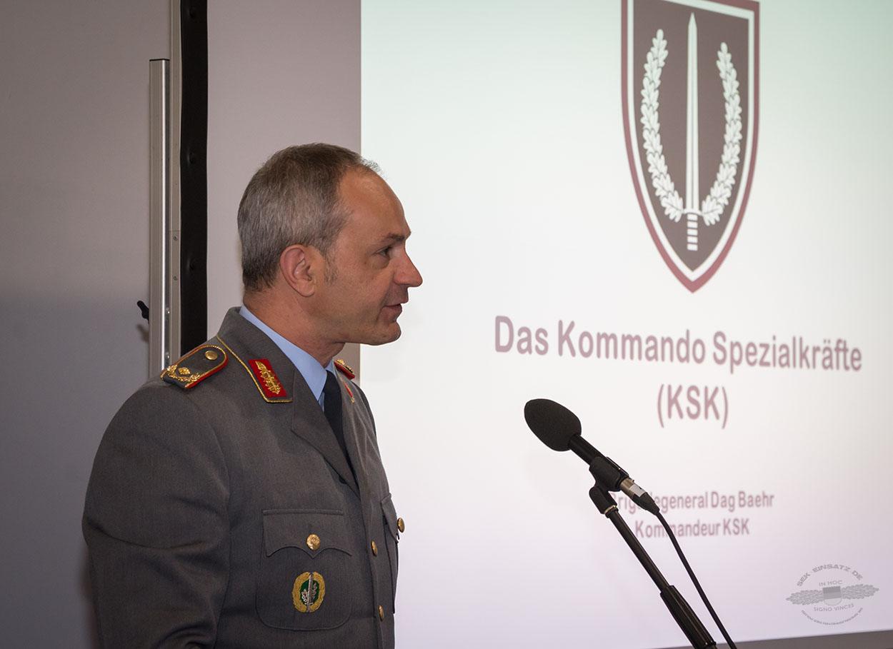 Der Kommandeur des KSK Brigadegeneral Dag Knut Baehr auf der GPEC 2016 in Leipzig   Foto: © GPEC/Tomas Moll