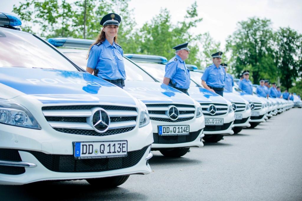 Elektromobilität: Polizei setzt auf Autos mit Elektroantrieb   Foto: © Daimler AG
