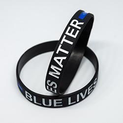 Blue Lives Matter Silikonarmband im Shop - Anzeige -