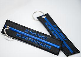 Schlüsselanhänger Thin Blue Line im Shop erhältlich - Anzeige
