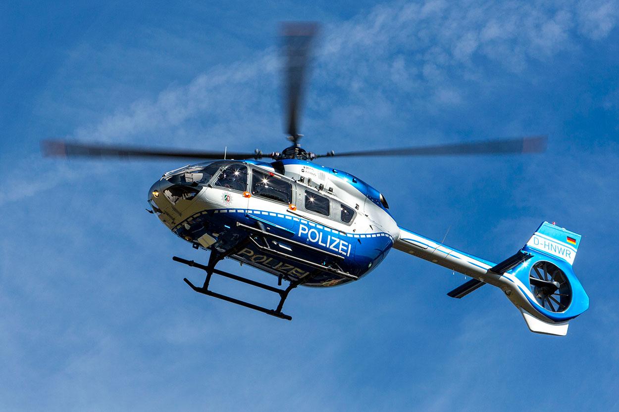 Hubschrauber der Polizei NRW Airbus H145   Foto: © MIK NRW