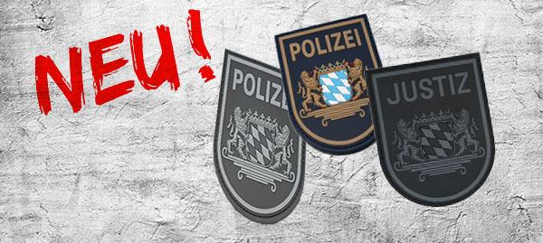 Polizei / Justiz 3D Rubber Patches Bayern - Anzeige