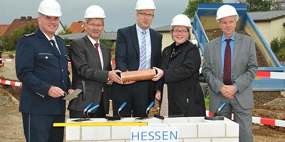 Grundsteinlegung im Oktober 2011 | Foto: © Innenministerium Hessen