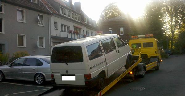 sichergestellter Transporter in Dortmund | Foto © PP Dortmund