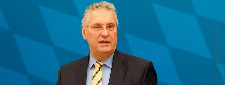 Innenminister Herrmann am Freitag in München | Foto: © IM Bayern