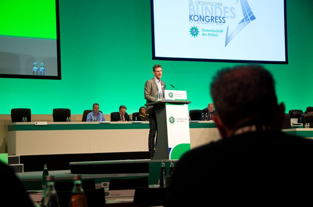 Oliver Malchow auf dem 25. GdP-Bundeskongress | Foto: © Tomas Moll
