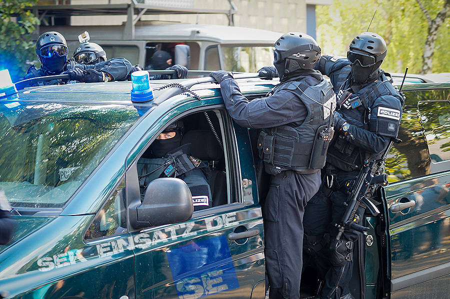 Einsatzkräfte des SEK Berlin | Foto: © Tomas Moll