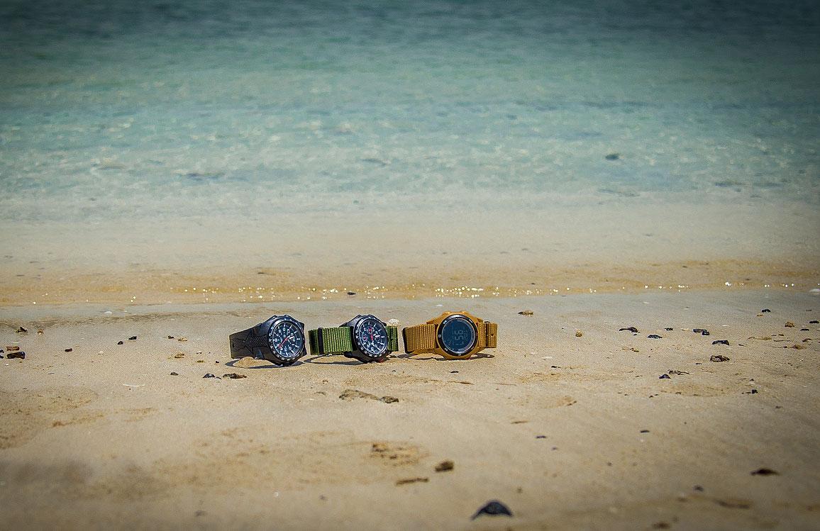 Unsere drei Testmodelle am Persischen Golf | Foto: SEK-Einsatz.de