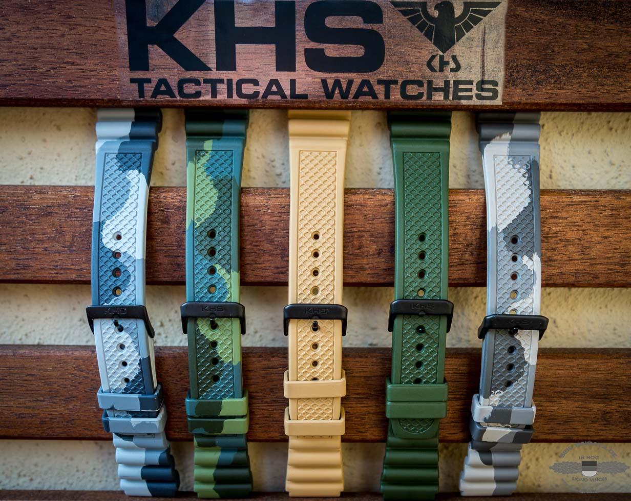 Eine kleine Auswahl an KHS REAPER Armbändern. Insgesamt stehen 17 Bänder zur Verfügung | Foto: © SEK-Einsatz.de