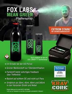 Mean Green Pfefferspray | Anzeige