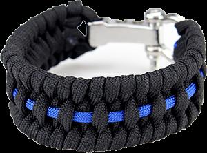 Zeig deine Solidarität mit der Polizei mit dem Thin Blue Line Paracord Armband - Anzeige