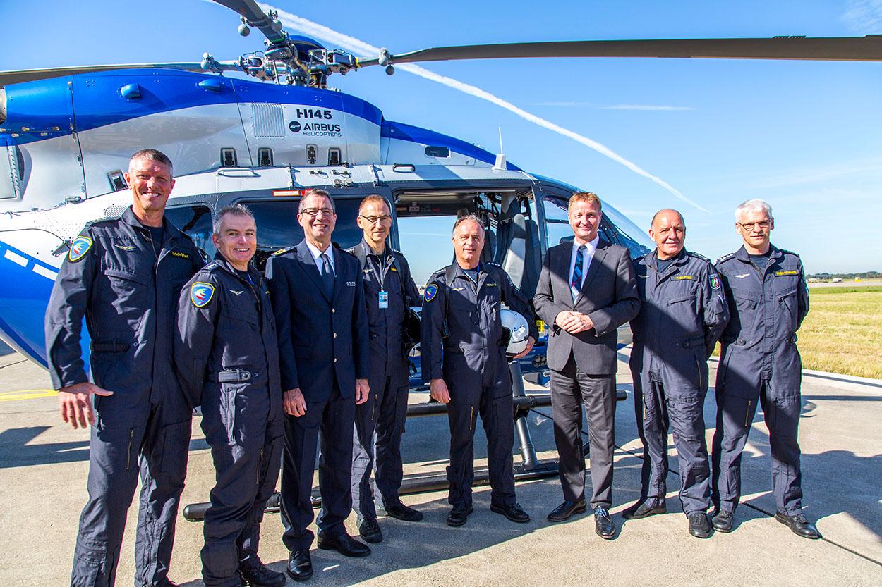 Hubschrauber der Polizei NRW Fliegerstaffel | Foto: © MIK NRW