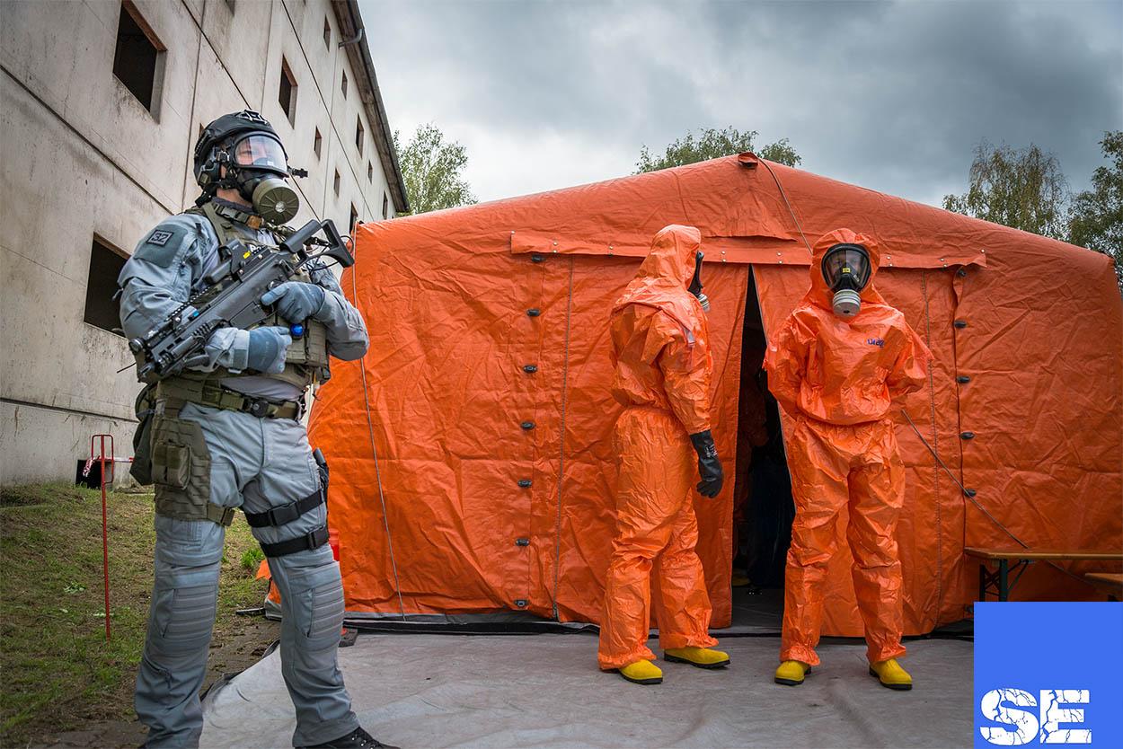 Photo of Übung zur Bewältigung eines bioterroristischen Anschlags